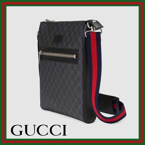 b8af4134b47f Gucci Bags | New Gg Supreme Messenger Bag Blackgray | Poshmark